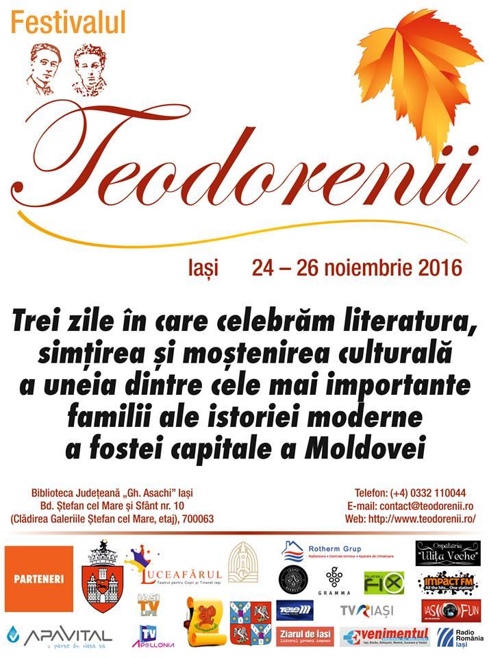 Afișul Festivalului Teodorenii 2016