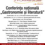 """Conferința națională """"Gastronomie și literatură"""""""
