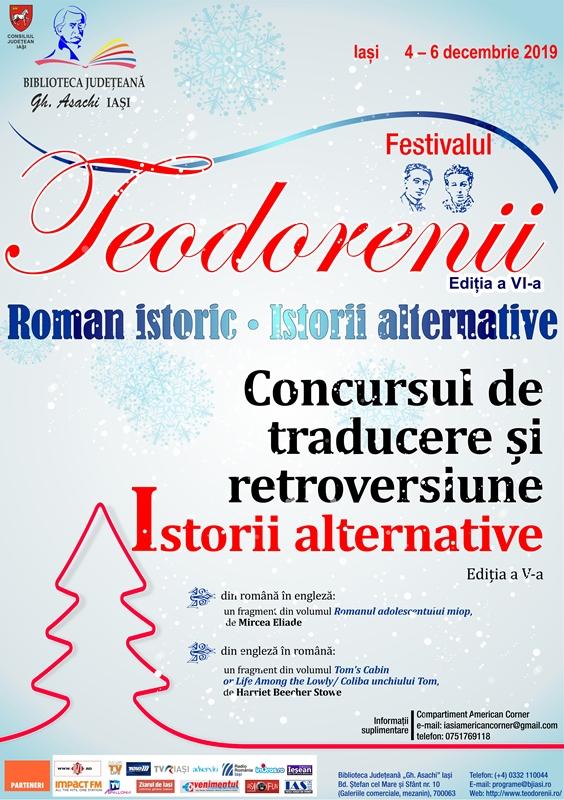 """Festivalul """"Teodorenii"""" 2019: Concursul de traducere și retroversiune """"Istorii alternative"""""""