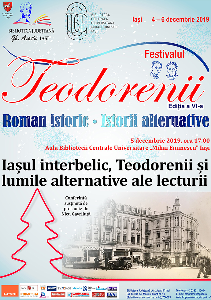 """Iașul interbelic, Teodorenii și lumile alternative ale lecturii"""