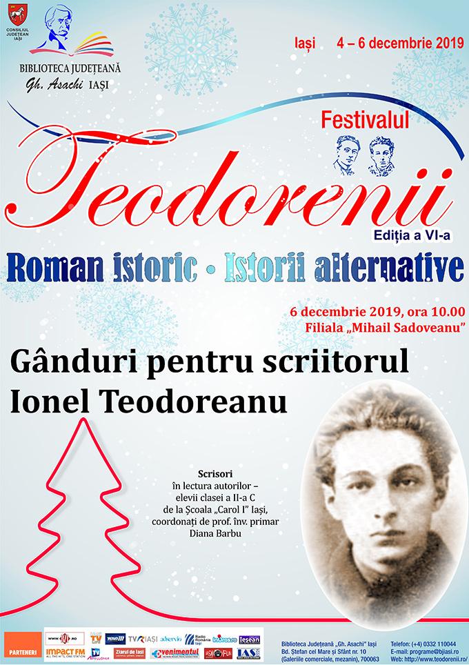 Gânduri pentru scriitorul Ionel Teodoreanu
